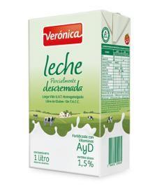 Leche Descremada Larga Vida Veronica 1Lt